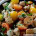 Sun Gold Tomato Panzanella with Mozzarella and Capers