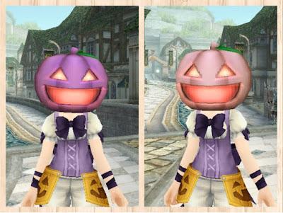 カボチャの被り物 紫1・桃1