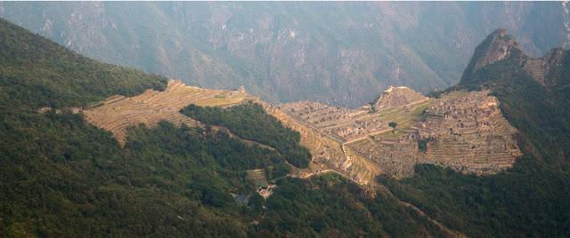 A photograph of Machu Picchu in Peru