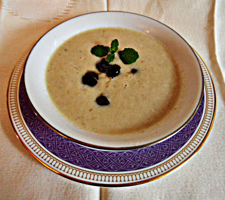 Chez Maximka: parsnip and fennel soup with caramelised chestnuts