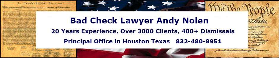 Houston Hot Check Lawyers | Harris County Texas Theft Attorneys