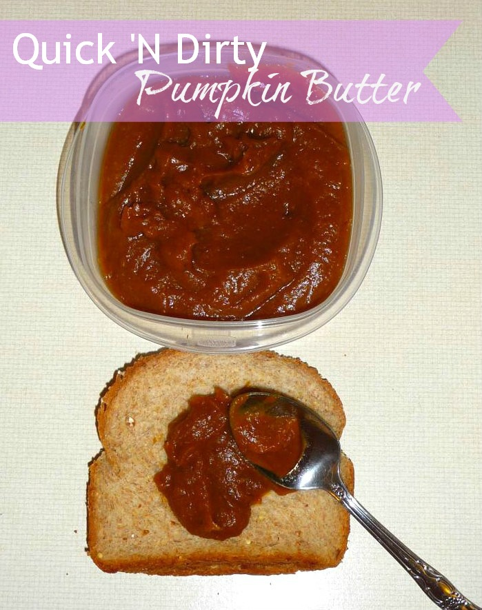 quick 'n dirty homemade pumpkin butter