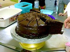 American choc cake.  rm80