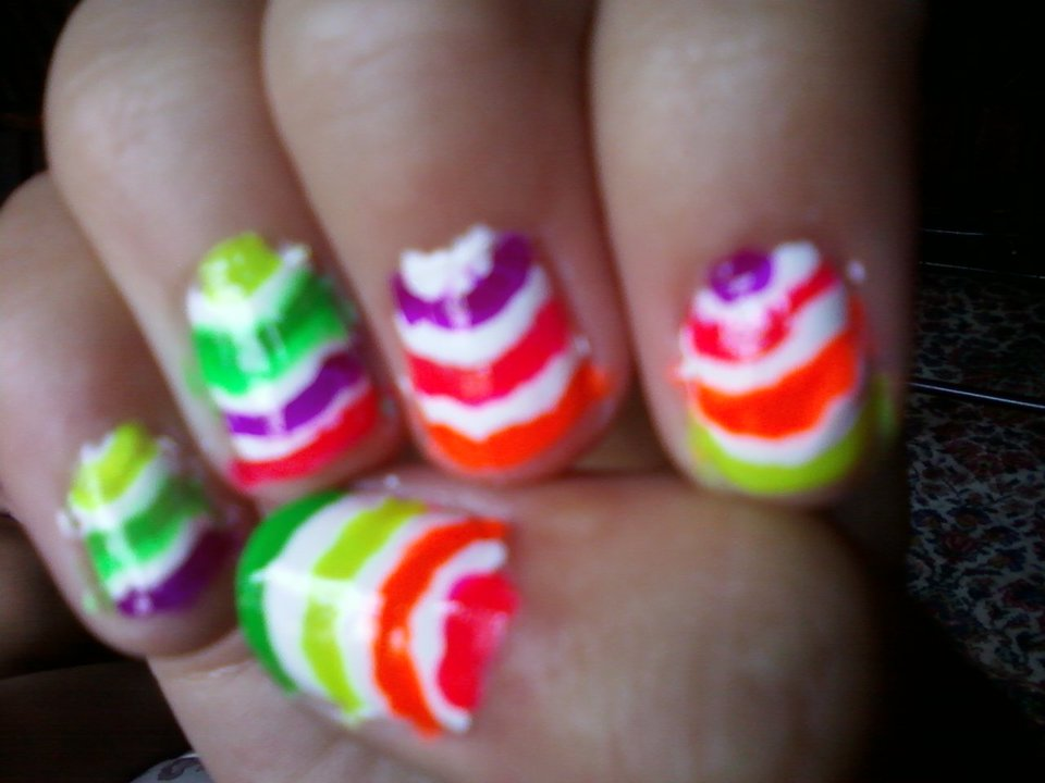 abby s nail designs neon stripped nails