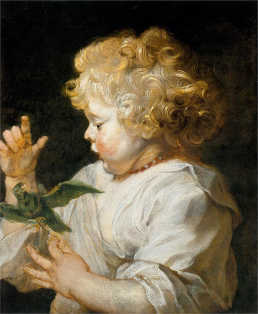 Flemish painter Boy with Bird, 1616, Peter Paul Rubens