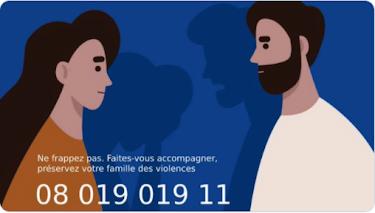 """""""Ne frappez pas"""" - N° appel violences intra familiales - 21 avril  2020"""