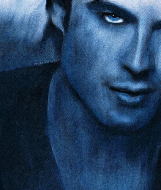 Ian Somerhalder in Blue Digital Art