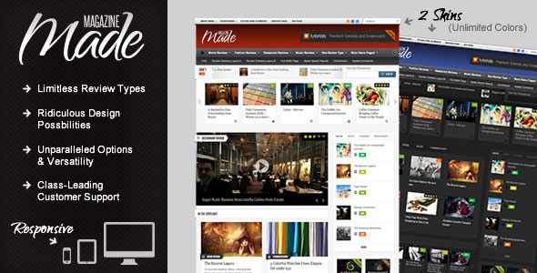 Image for Made – Responsive Review / Magazine Theme by ThemeForest