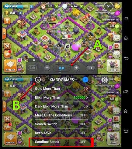 Tutorial Simulasi Serangan Clash Of Clans Dengan XModGames