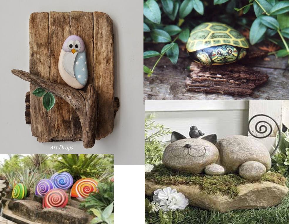 Isa navarro manualidades con piedras pintadas for Pintura para pintar piedras