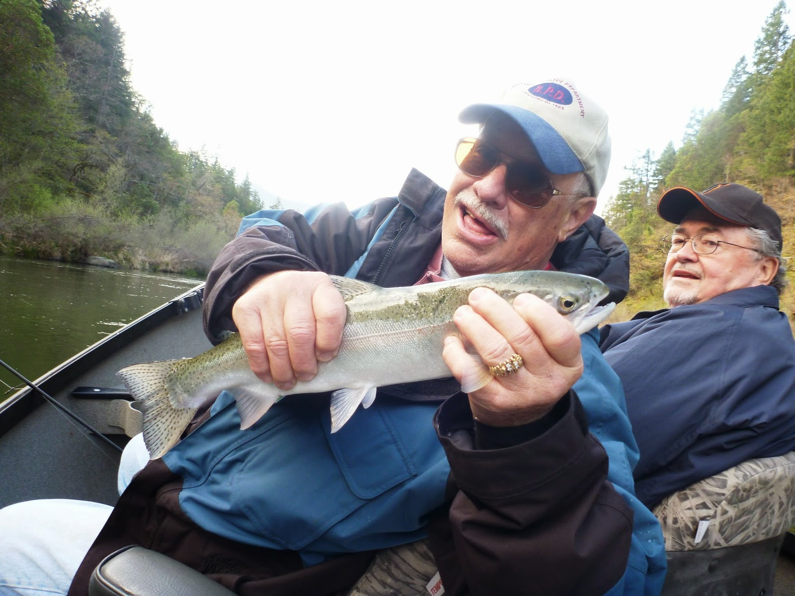 Klamath River Steelhead Fishing with Ironhead Guide Service.