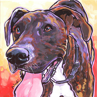 dog painting, Great Dane