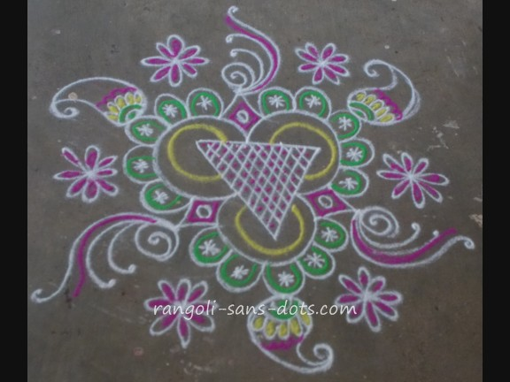 Muggulu Kolam By Sudha Balaji | Download Gambar