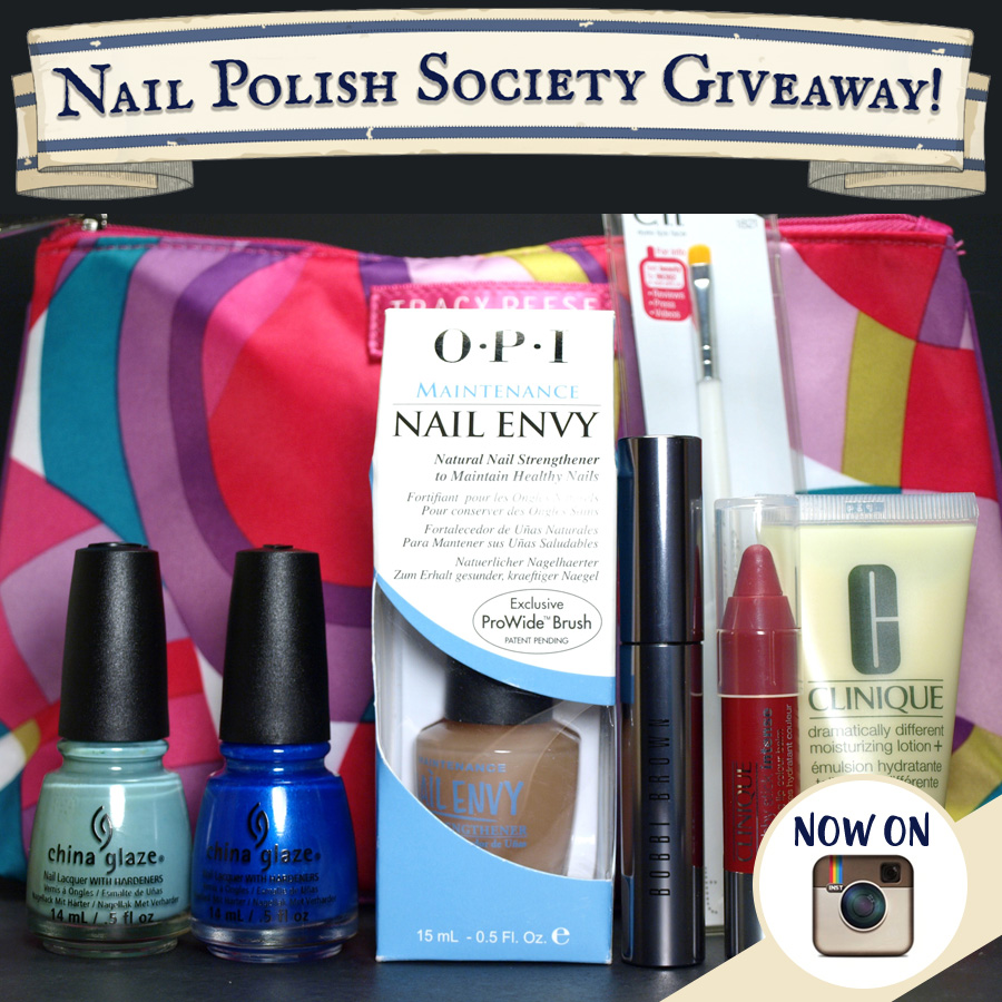 Nail Polish Society: GIVEAWAY!! Nail Polish Society Now On Instagram!