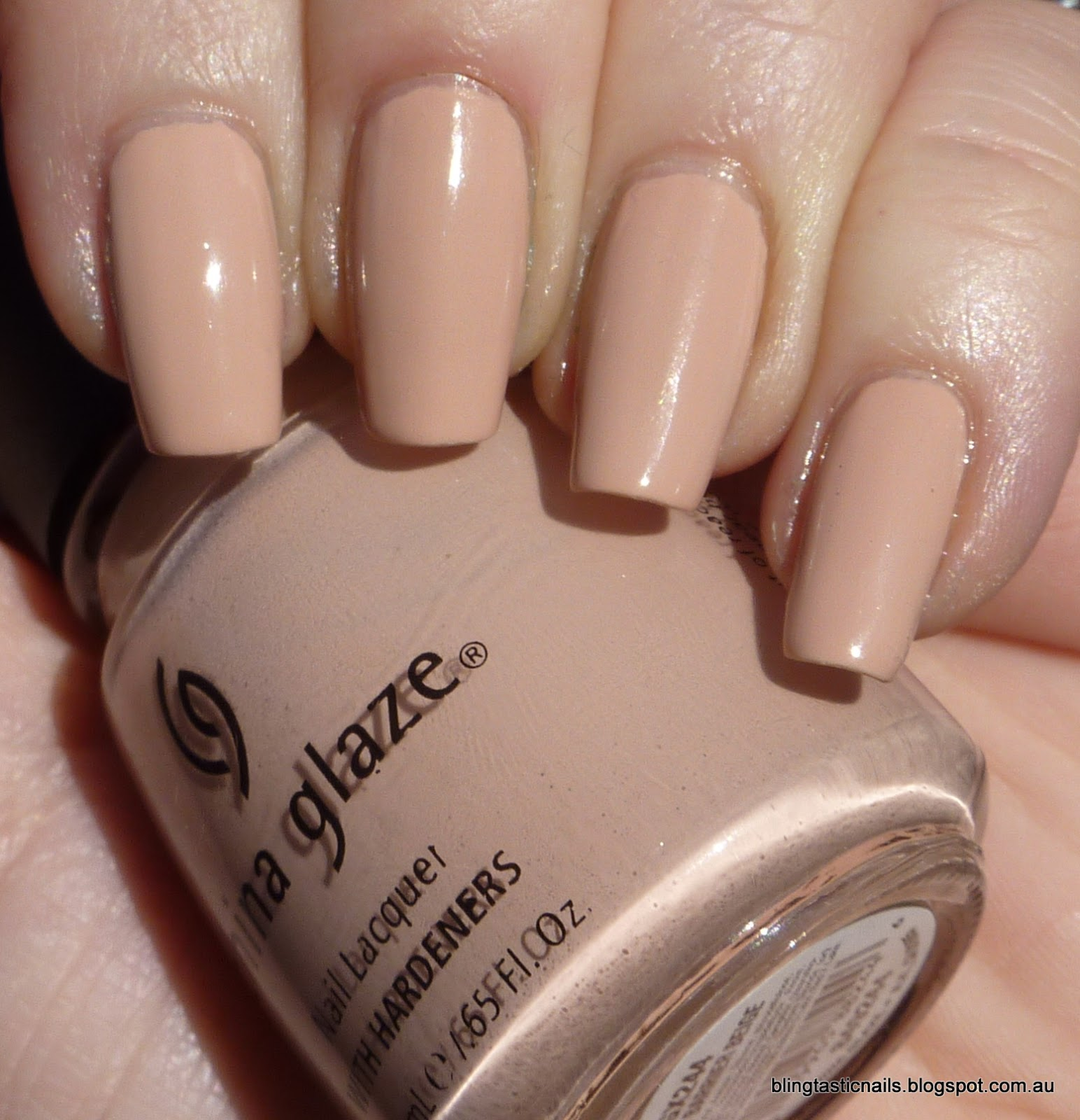 Jas\'s Blingtastic Nails: China Glaze Great Barrier Beige- Revisited