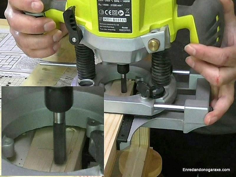 Fresar la caja para la chapa de la cerradura. Enredandonogaraxe.com