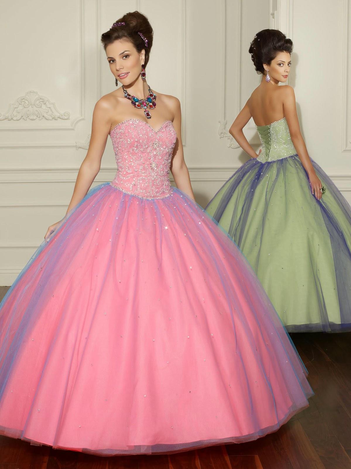 Moda&Novedades.: Asombrosos vestidos de 15 años corte tradicional ...