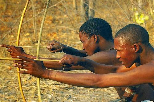 San bushmen, Gudigwa, Botswana.