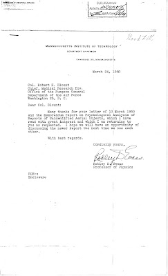 Colonel Blount's Letter (Evans Reply) 3-10-1950