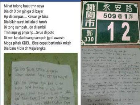 NUR TKW Taiwan Asal Majalengka Terisolasi Di Rumah Majikannya