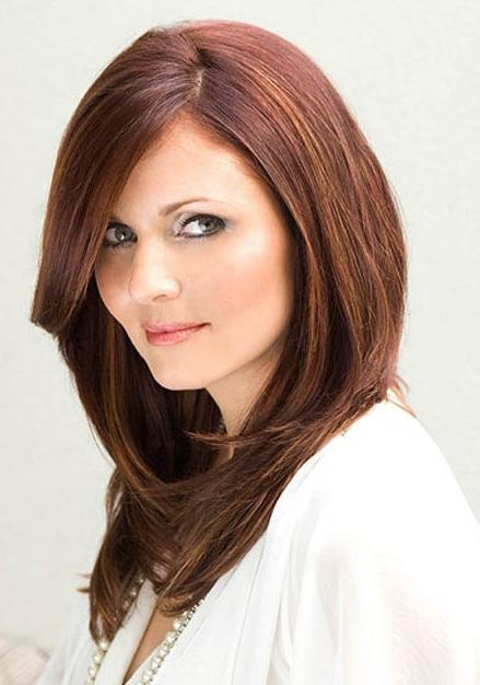 long layered haircut hairstyles for round face 2013