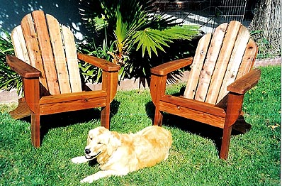 Adirondack chairs are ideal