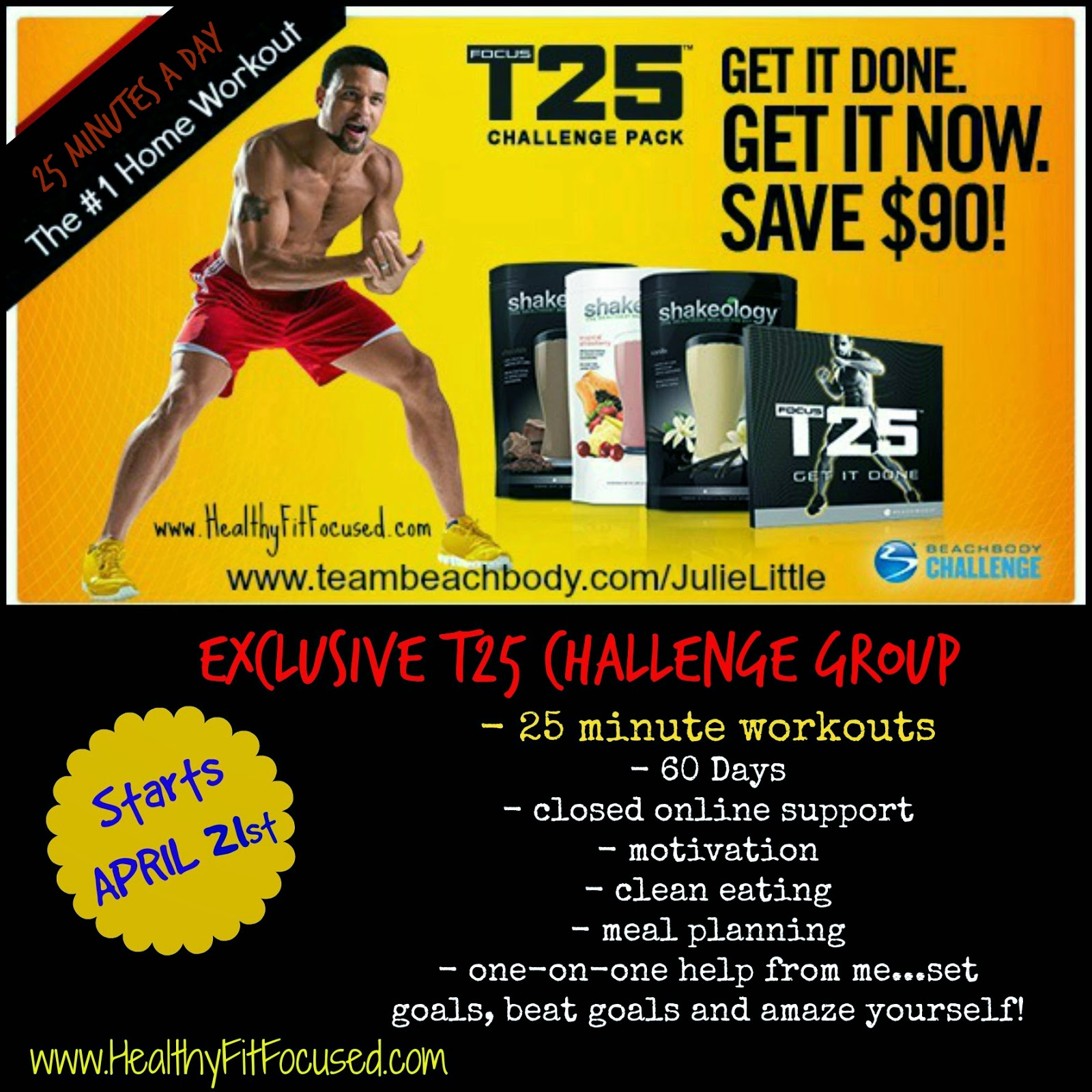 T25 Summer Slim Down Challenge