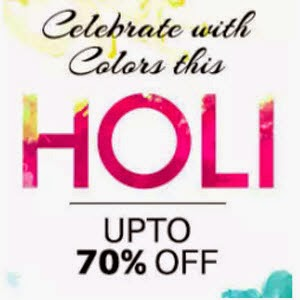 Holi Deals upto 70% to 40% off on PayTm