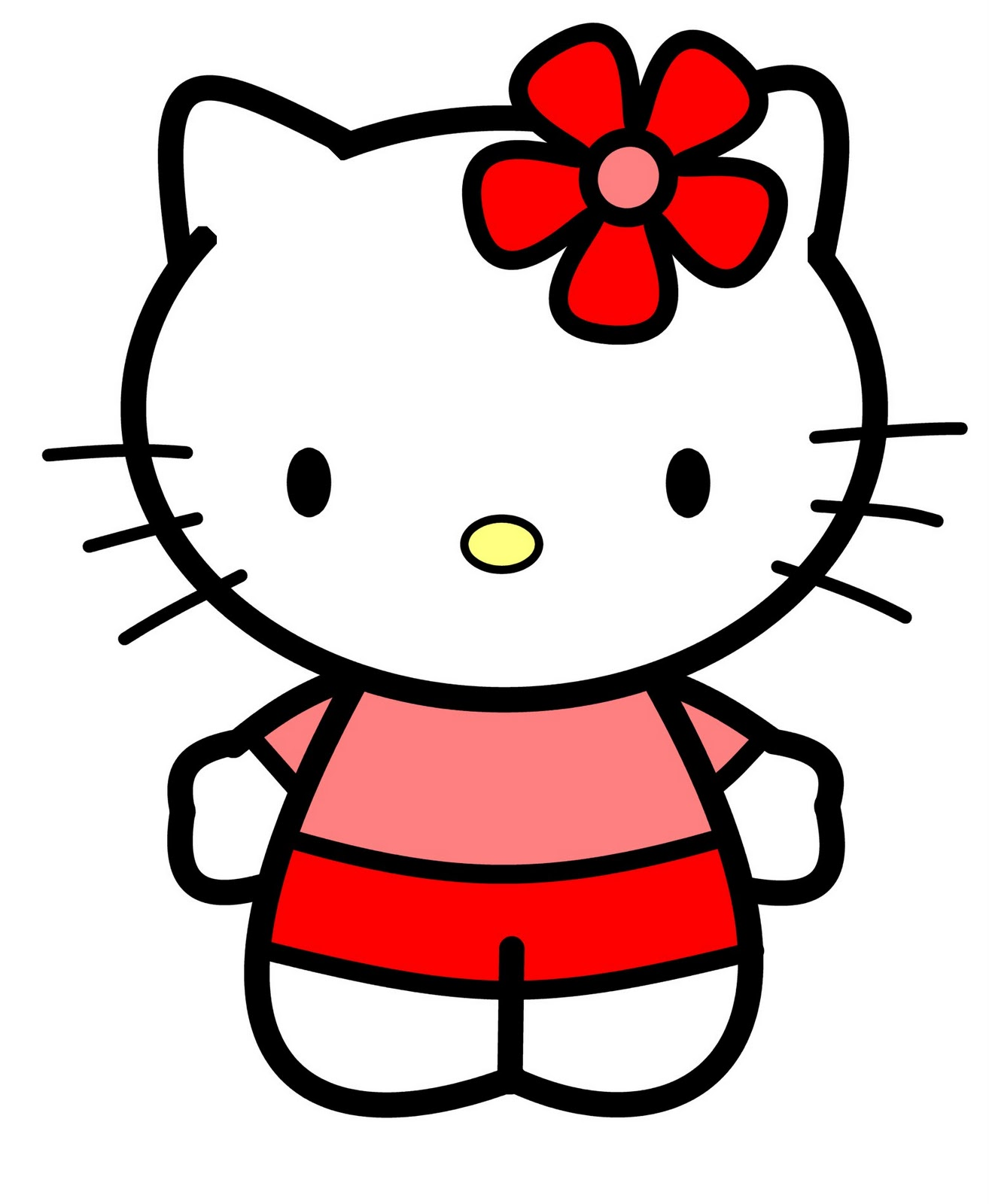 how to draw cartoons hello kitty. Black Bedroom Furniture Sets. Home Design Ideas