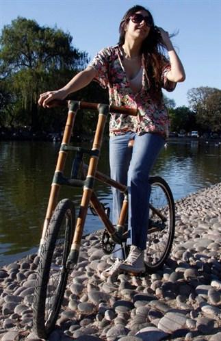 Bicicleta ecologica hecha de bambu. Bamboo bike