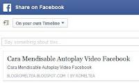 Memperbaiki Tampilan Posting Blog di Facebook