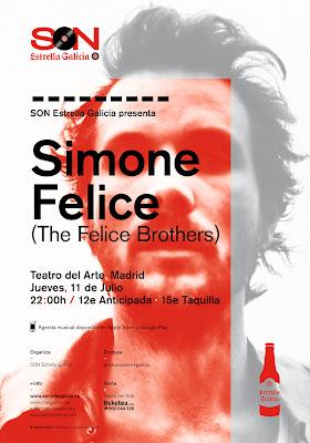 Simone Felice Madrid concierto 11 de julio