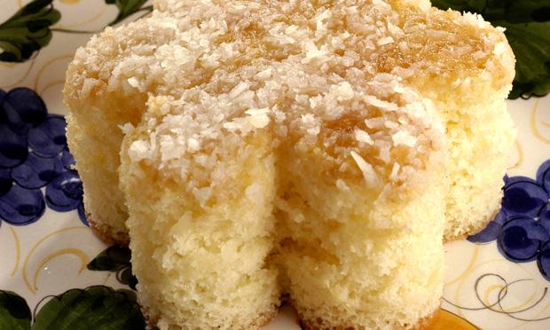 Receita de Bolo colchão de coco