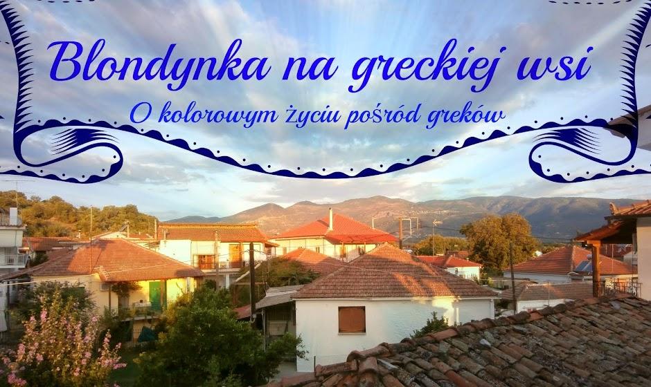 Blondynka na greckiej wsi