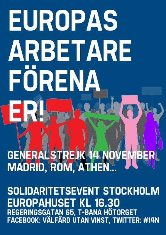 Generalstrejk i södra Europa