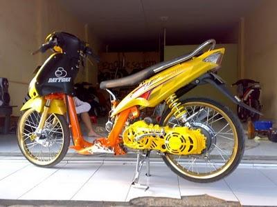 Gambar Modifikasi motor drag mio