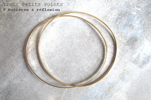 Bracelet jonc doré double Trois Petits Points bijoux Curve