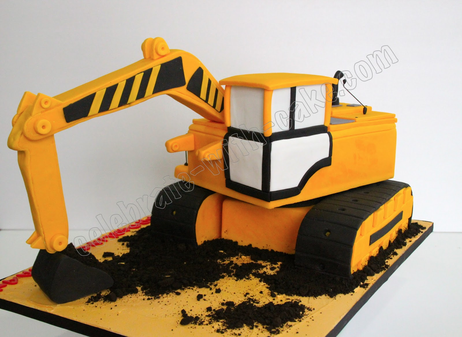 Birthday Cake Ideas Digger : Celebrate with Cake!: Excavator Cake
