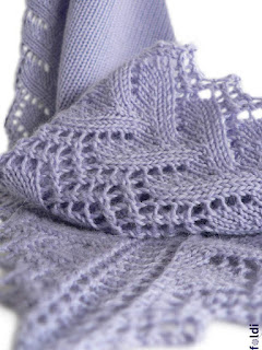 machine knitted passap scarf perfection leaf