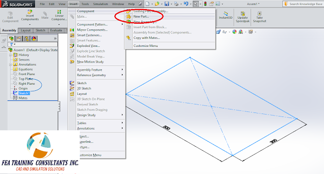 solidworks part in an assembly
