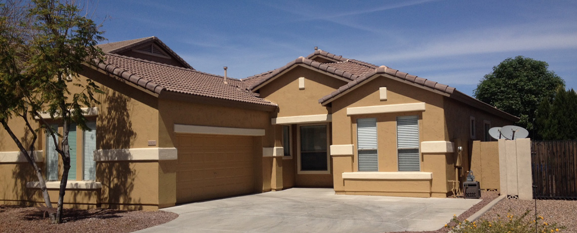 Ruby elephant house painting phoenix for Arizona exterior house colors