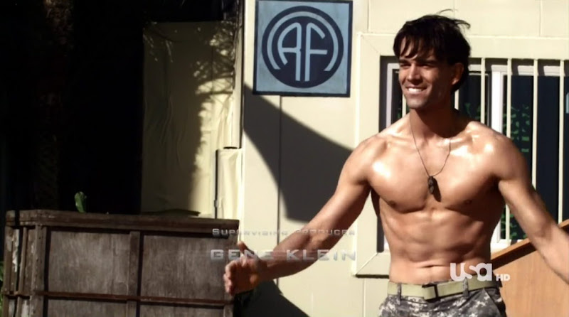 Christopher Gorham Shirtless in Covert Affairs s2e07