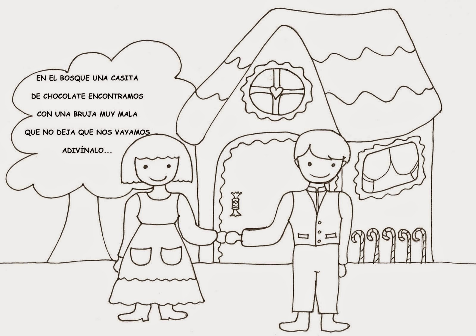 Dibujos Hansel Y Gretel. Cheap Vieta Dibujada Por Costsn With ...
