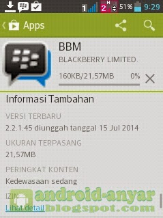 Free download official BBM for Android v.2.2.1.45.APK Full Installer