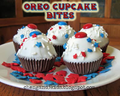 4th of July oreo cupcakes