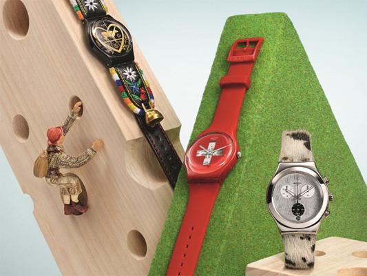 relógios de pulso Swatch pulseiras de couro bordada pelo e silicone