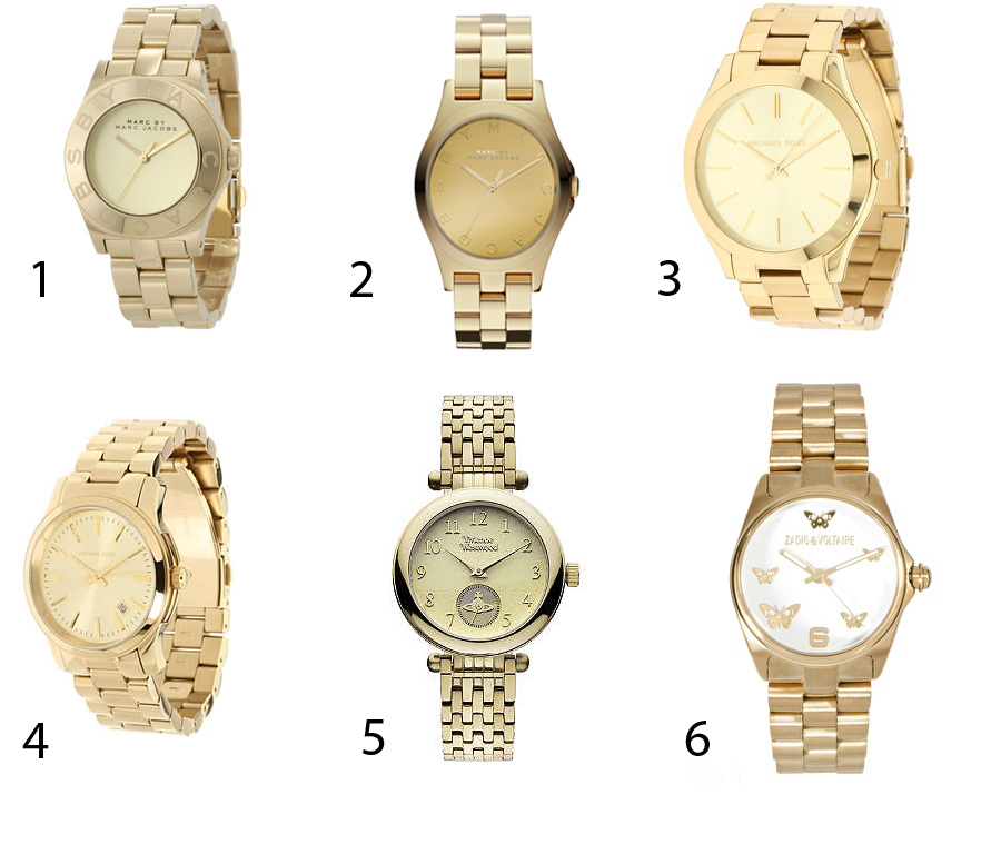 Female Gold Watch