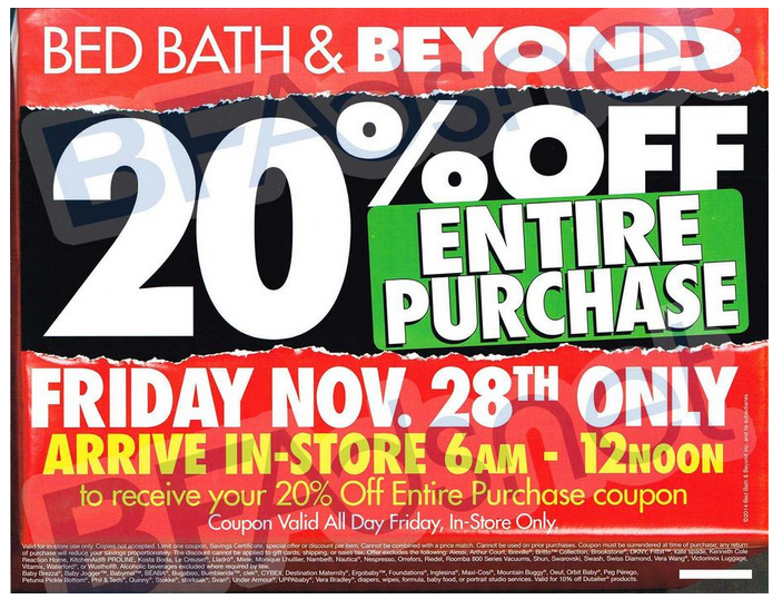 Black Friday Ads 2014 Bed Bath Amp Beyond Ad Scan Now