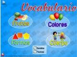 Juego de las frutas, colores, formas y cuerpo