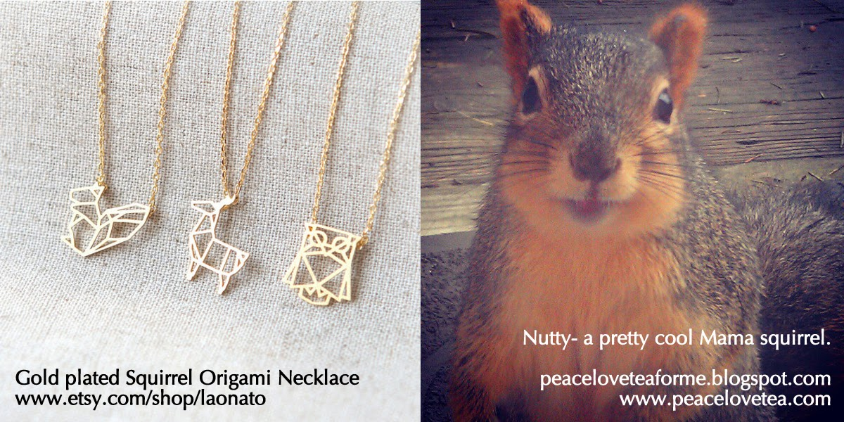 Squirrel Origami Necklace by Laonato